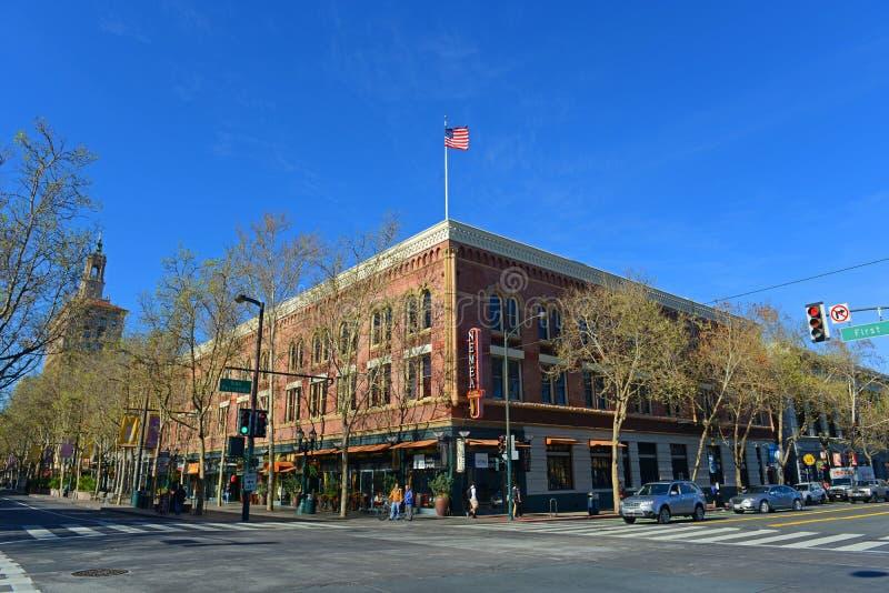 Arquitetura da cidade do centro de San Jose, Califórnia, EUA foto de stock royalty free
