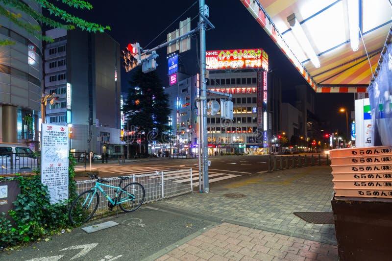 Arquitetura da cidade do distrito de Ikebukuro no Tóquio foto de stock