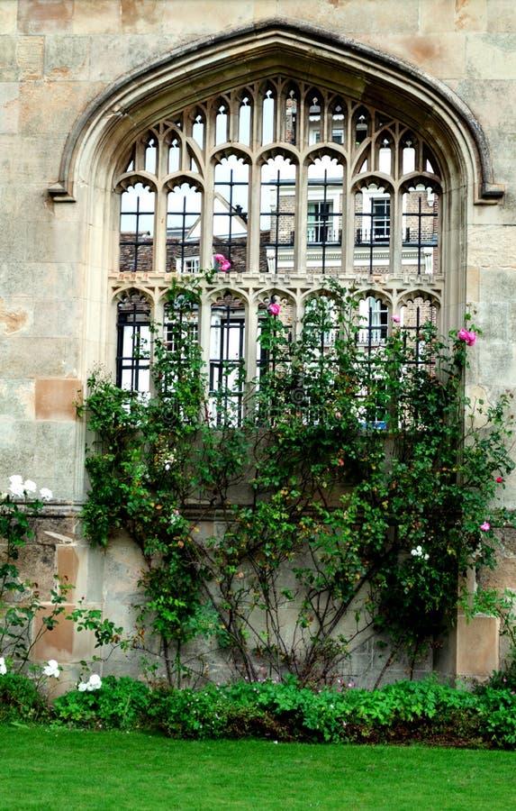 A arquitetura da cidade do estudante de Cambridge imagens de stock royalty free