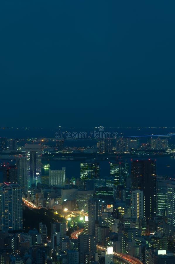 Arquitetura da cidade do Tóquio imagem de stock