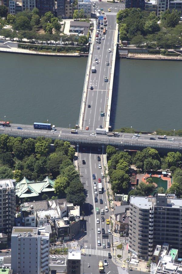 Arquitetura da cidade do Tóquio em Japão foto de stock royalty free