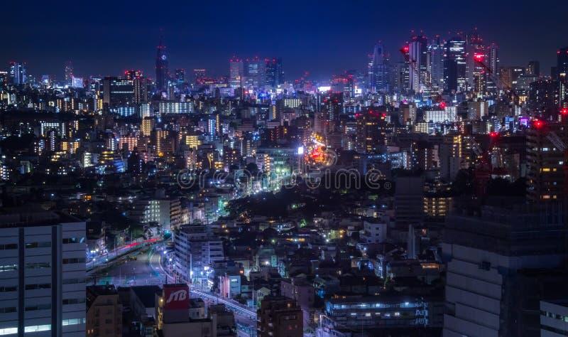 Arquitetura da cidade do Tóquio, Japão imagem de stock
