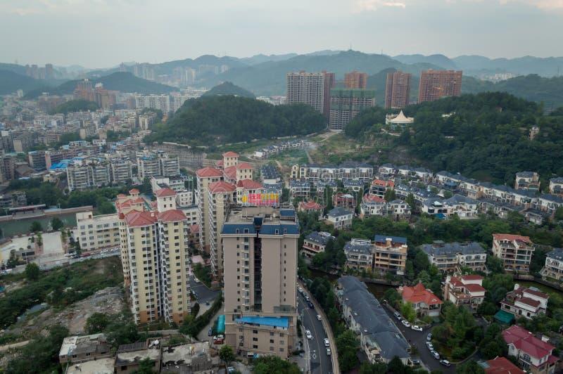 Arquitetura da cidade do turismo da floresta de guiyang fotografia de stock