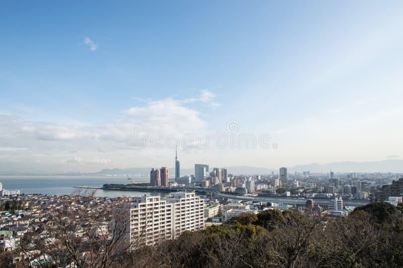 Arquitetura da cidade Fukuoka imagem de stock royalty free