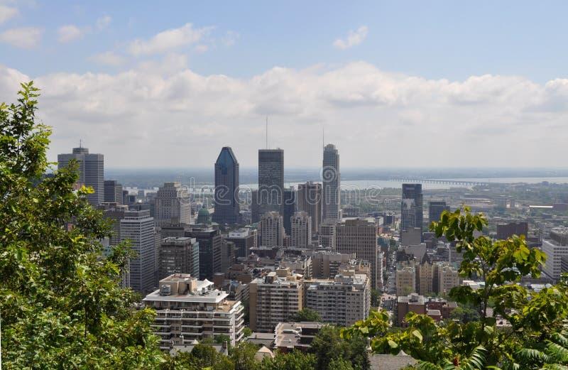 Arquitetura da cidade da montagem real, Montréal, Quebeque, Canadá imagens de stock royalty free