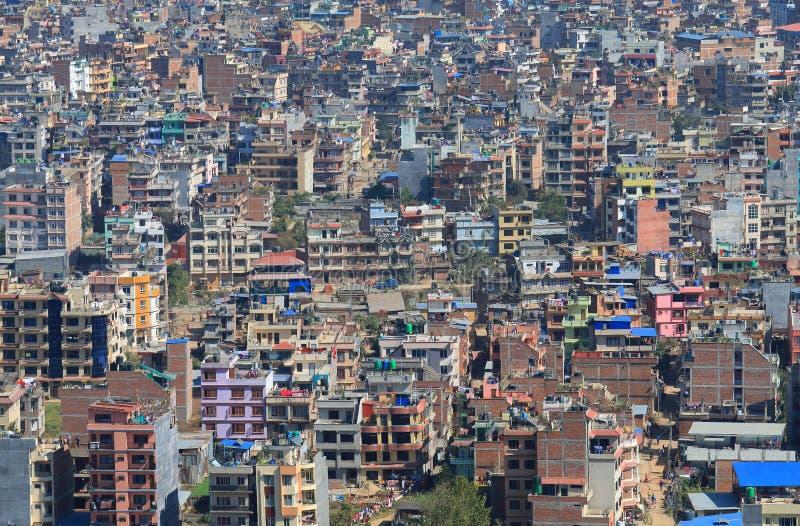 Arquitetura da cidade Nepal de Kathmandu fotografia de stock royalty free