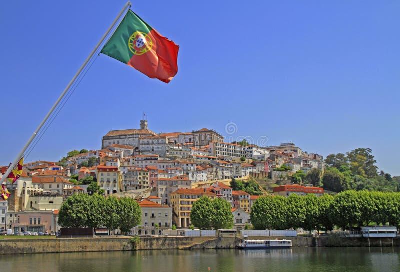 A arquitetura da cidade da cidade portuguesa Coimbra imagem de stock