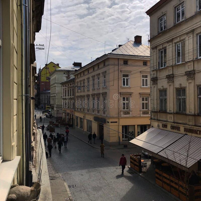 Arquitetura da cidade ucraniana de Lviv fotos de stock royalty free