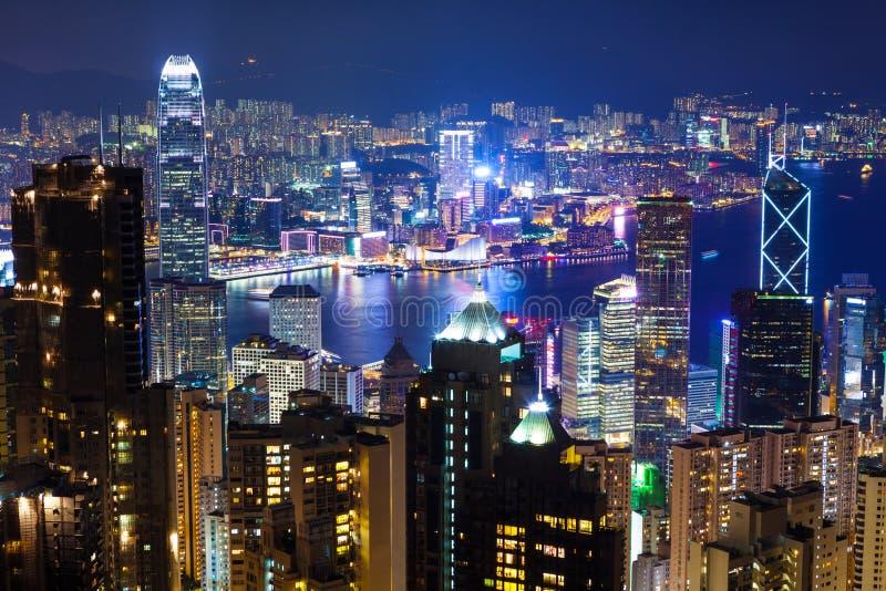 Arquitetura da cidade urbana em Hong Kong imagem de stock royalty free