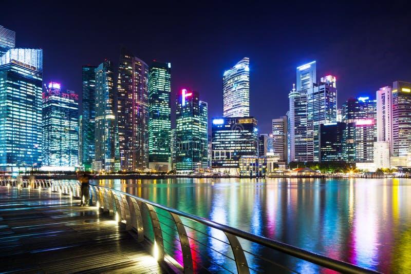 Arquitetura da cidade urbana em Singapura fotos de stock royalty free