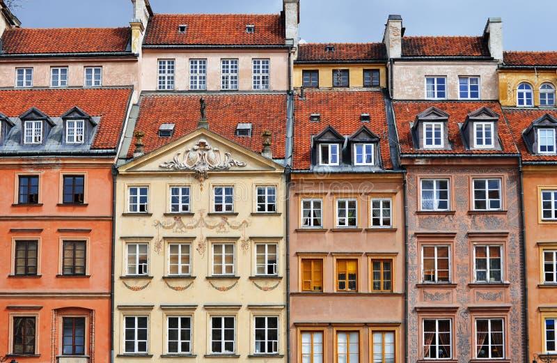 Arquitetura da cidade velha em Varsóvia, Polônia fotos de stock royalty free