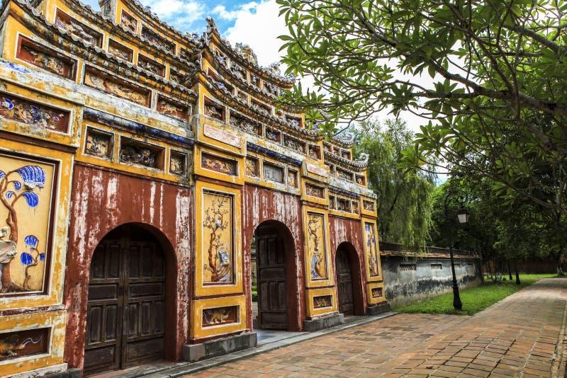 Arquitetura da citadela da matiz, Vietname foto de stock