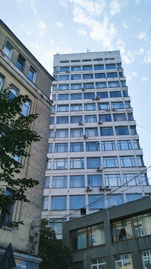 arquitetura da construção da cidade de Kiev fotos de stock royalty free