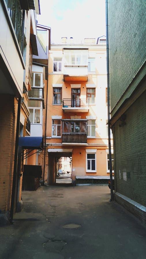 arquitetura da construção da cidade de Kiev foto de stock royalty free