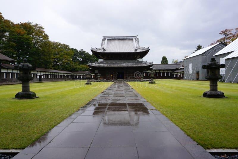 Arquitetura da herança do templo de Zuiryuji em Takaoka imagem de stock