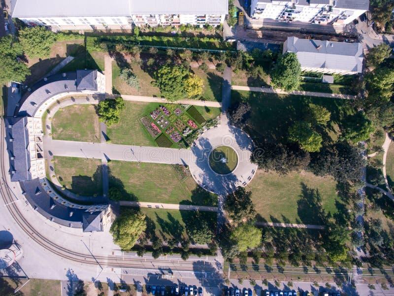 Arquitetura da opinião aérea de Gerencie Orangerie Summer imagem de stock