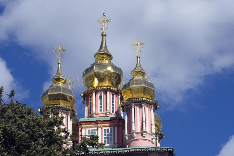 Arquitetura da trindade Sergius Lavra em Rússia imagens de stock royalty free