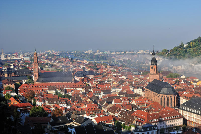 Arquitetura das igrejas de Heidelberg fotos de stock
