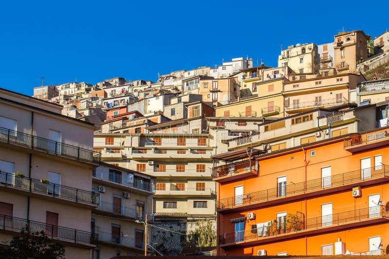 Download Arquitetura De Cammarata, Sicília, Itália Imagem de Stock - Imagem de montanhoso, liso: 65575515