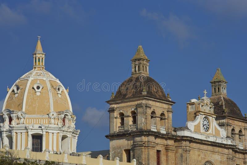 Arquitetura de Cartagena de Índia em Colômbia foto de stock