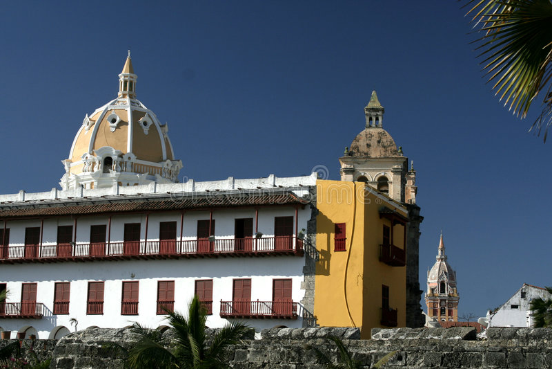 Arquitetura de Cartagena de Indias. Colômbia fotos de stock royalty free