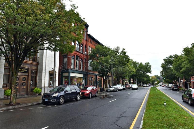 Arquitetura de connecticut EUA da cidade de Danbury hist?rica fotos de stock