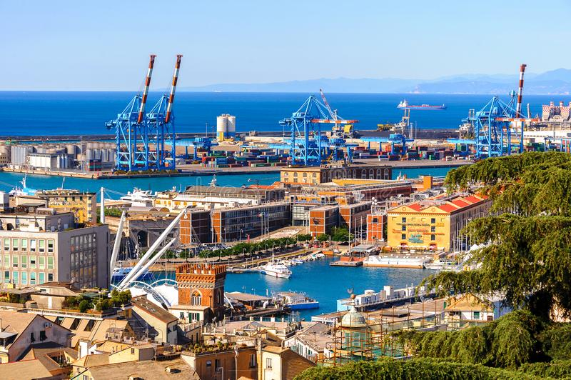 Arquitetura de Genoa, Itália fotos de stock royalty free