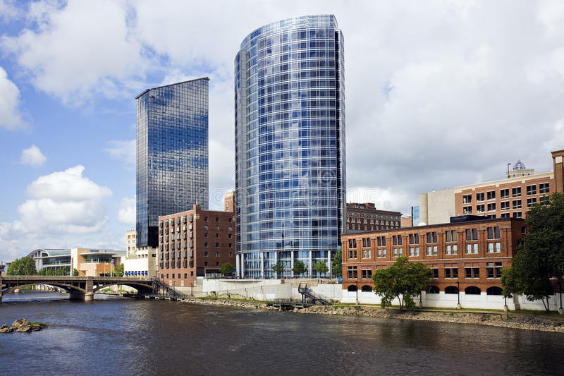 Arquitetura de Grand Rapids imagens de stock
