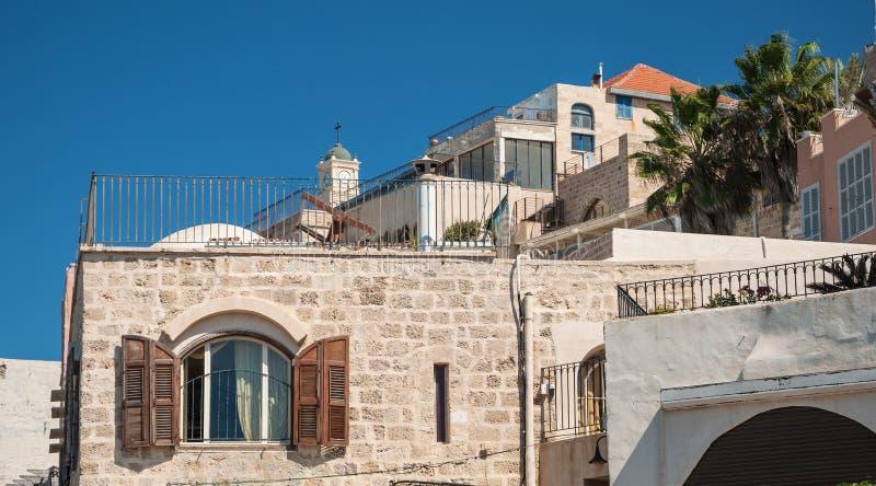 A arquitetura de Jaffa imagens de stock