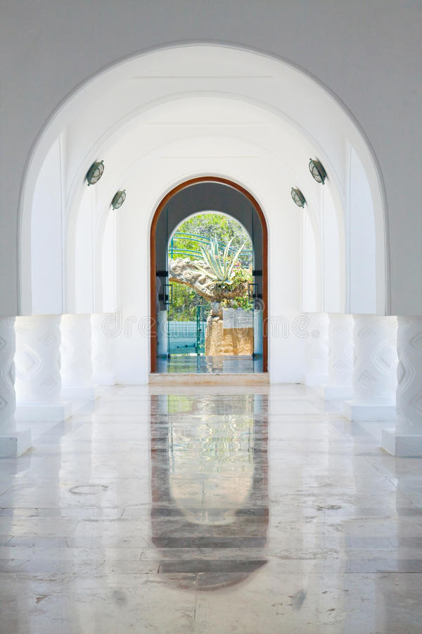Arquitetura de Kalithea Thermes, ilha do Rodes fotografia de stock royalty free