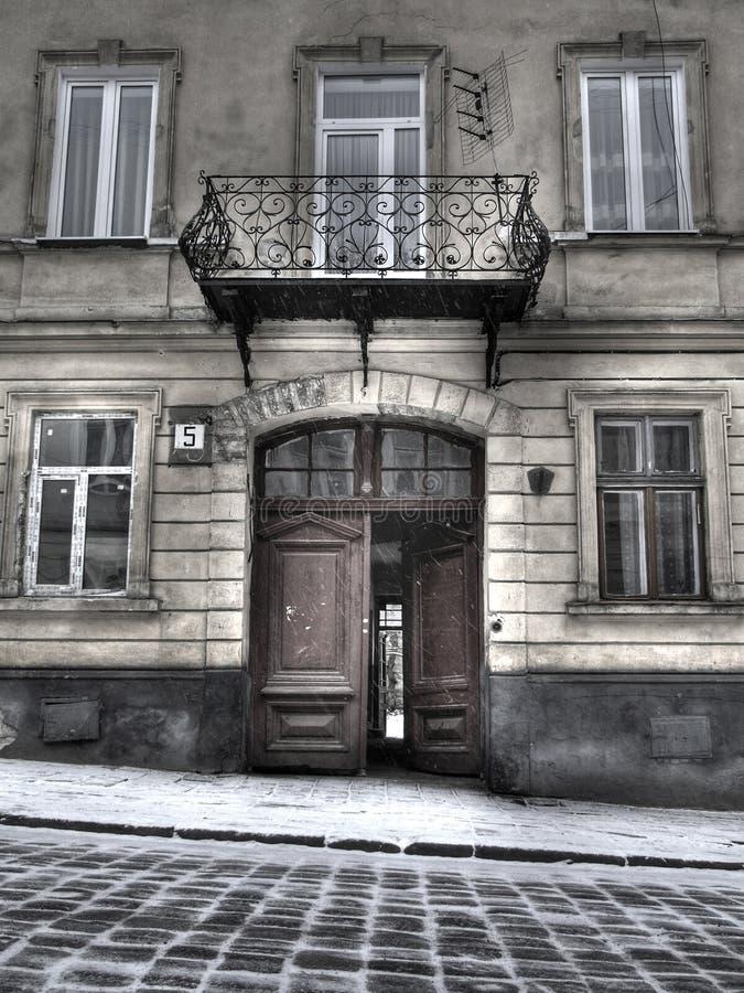 Arquitetura de Lvov velho fotografia de stock royalty free