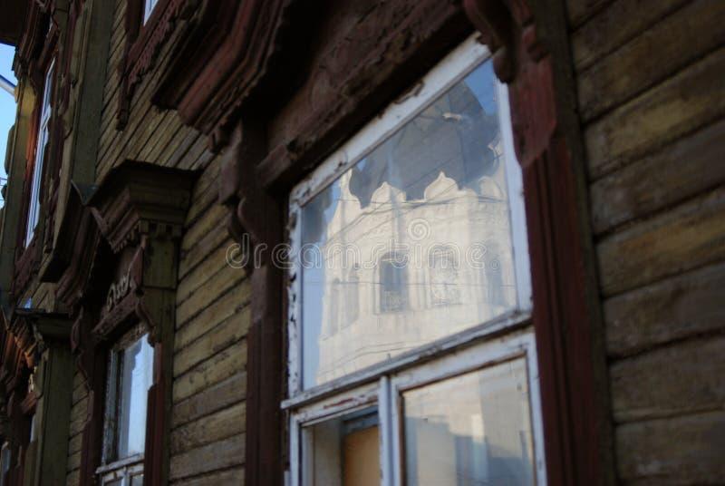 Arquitetura de madeira de Kostroma, Rússia imagens de stock royalty free