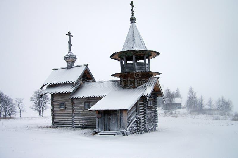 Arquitetura de madeira do russo norte - museu ao ar livre Kizhi, Carélia fotos de stock royalty free