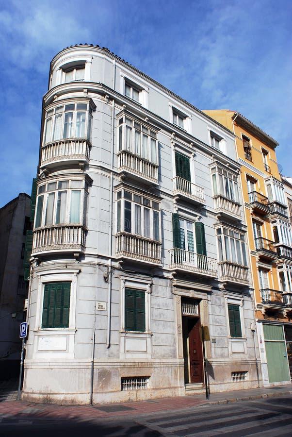 Arquitetura de Malaga fotografia de stock