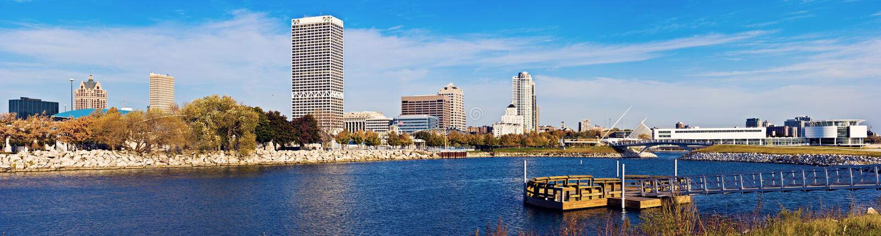 Arquitetura de Milwaukee foto de stock