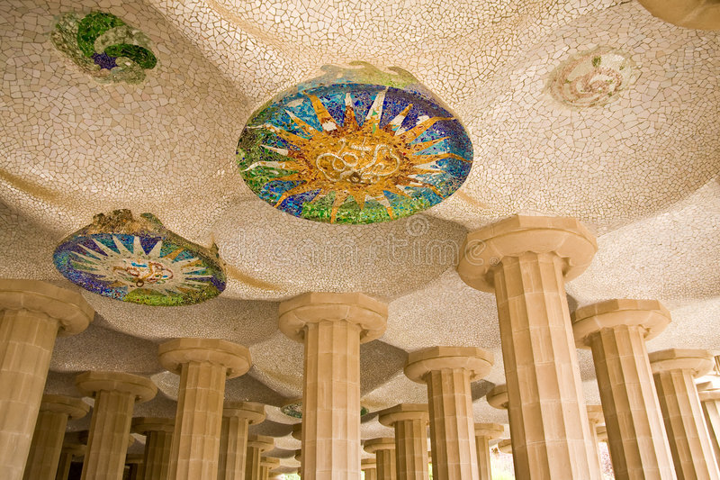 Arquitetura de Parc Guell imagens de stock royalty free