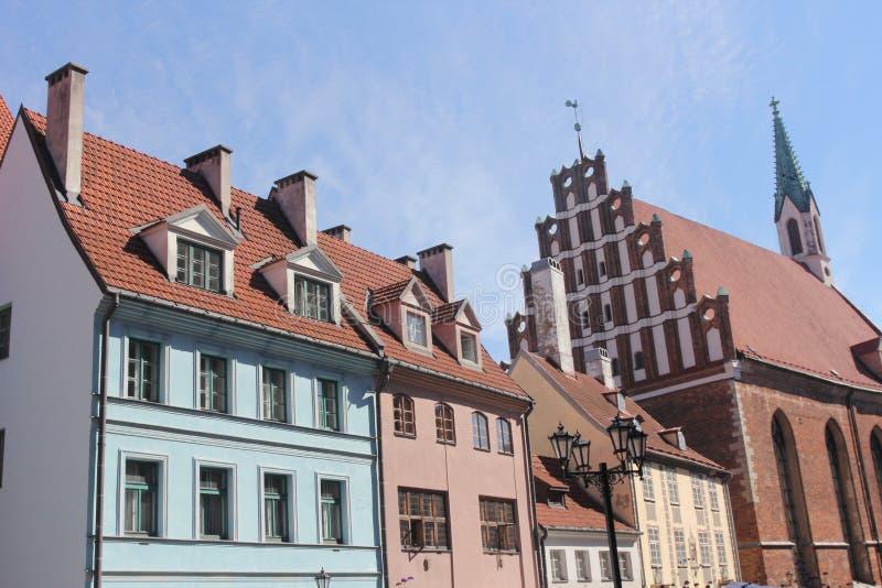 Arquitetura de Riga, Letónia imagem de stock