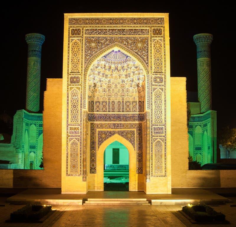 A arquitetura de Samarkand antigo fotografia de stock royalty free