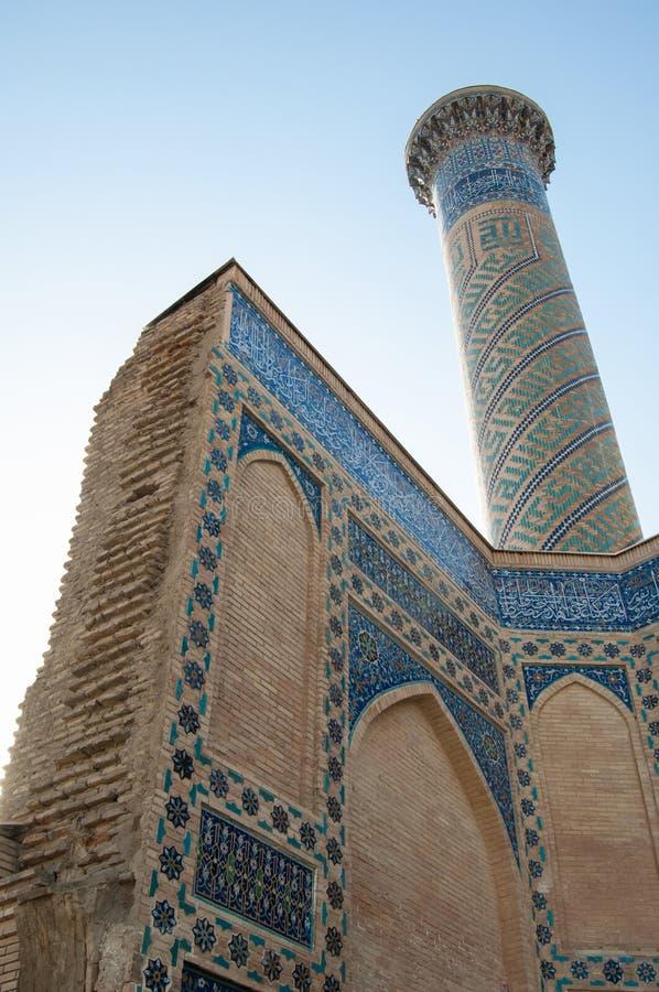 A arquitetura de Samarkand antigo imagem de stock