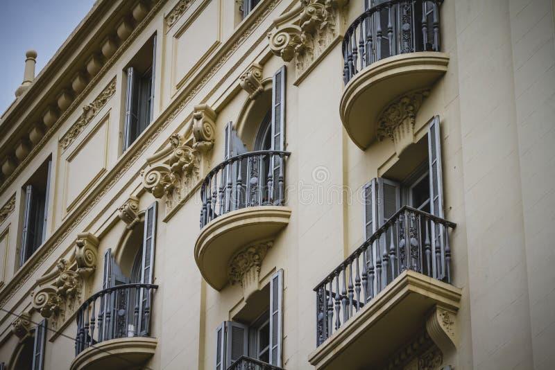Arquitetura de Tipical da cidade espanhola de Valência fotografia de stock royalty free