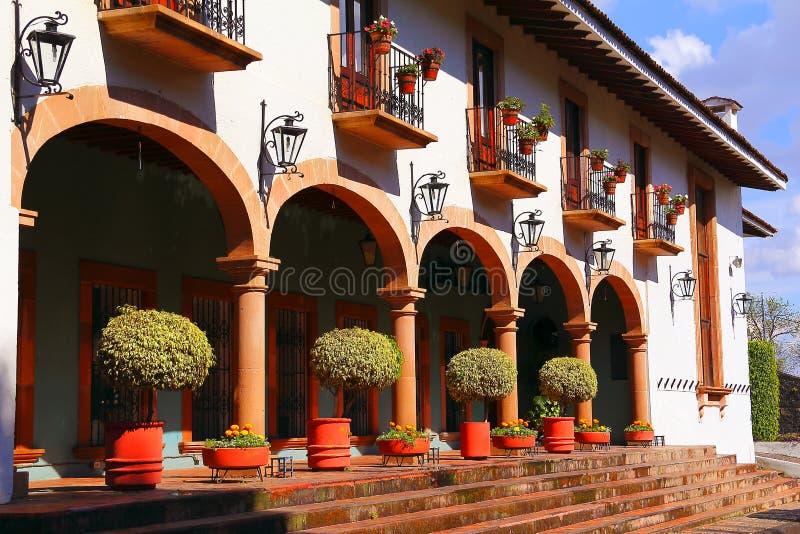 Arquitetura de Uruapan mim fotografia de stock