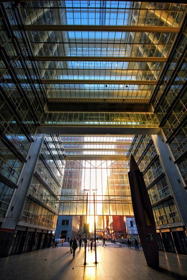 Arquitetura de vidro imagem de stock