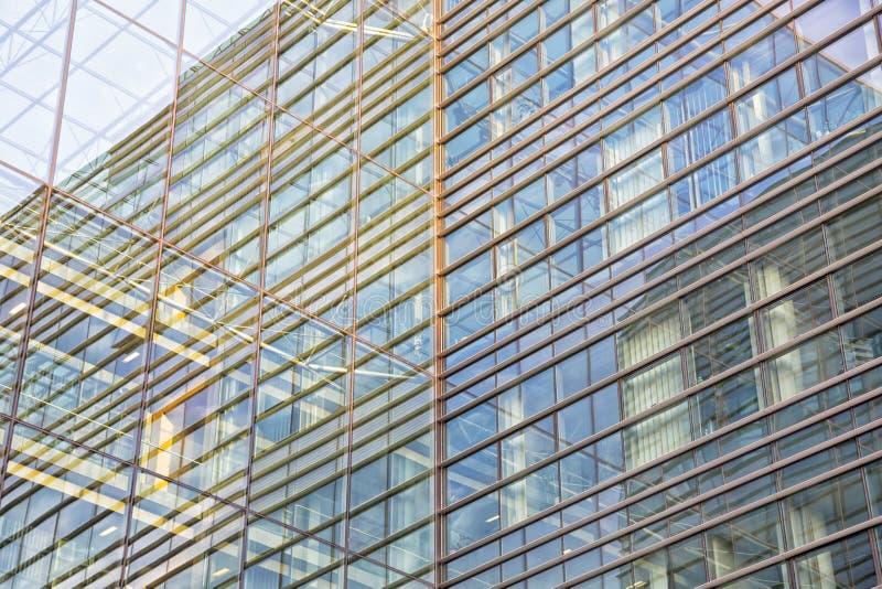 Arquitetura de vidro moderna foto de stock