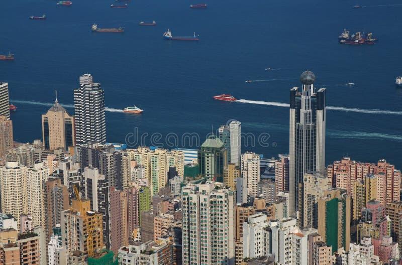 Arquitetura densa em Hong Kong fotos de stock royalty free