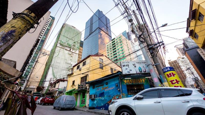 Arquitetura desarrumado de Manila imagens de stock