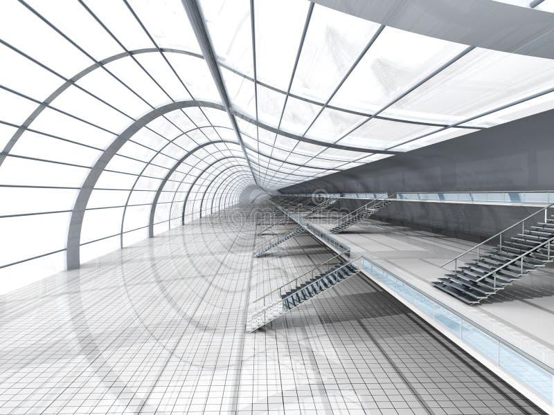 Arquitetura do aeroporto ilustração royalty free