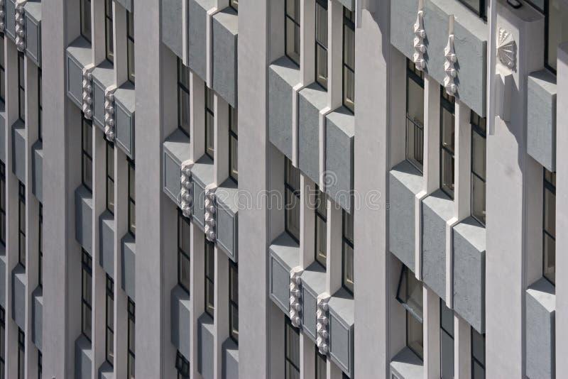 Arquitetura do art deco foto de stock