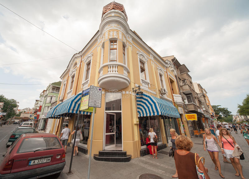 Arquitetura do Bourgas bulgária foto de stock royalty free