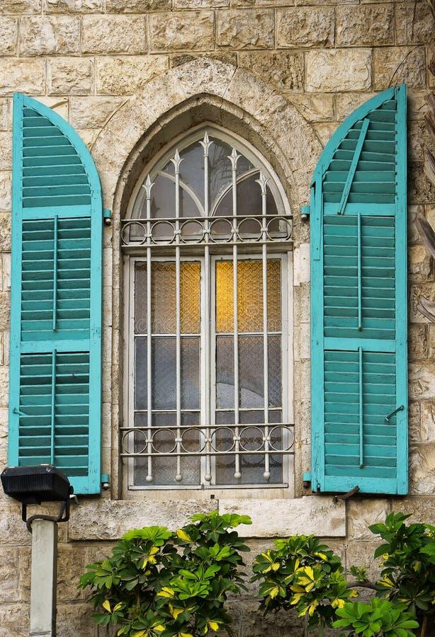 Arquitetura do centro Israel de Haifa foto de stock