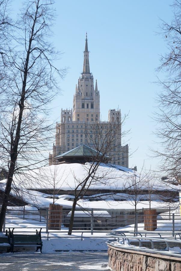 Arquitetura do edifício de Moscovo imagens de stock